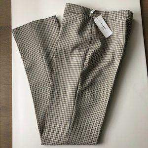 AKRIS Claire Glen Check Pants guave-cream-black 12